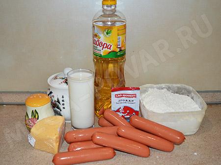 Сосиски в тесте с сыром