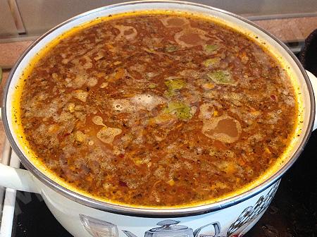 Острый суп с чесноком