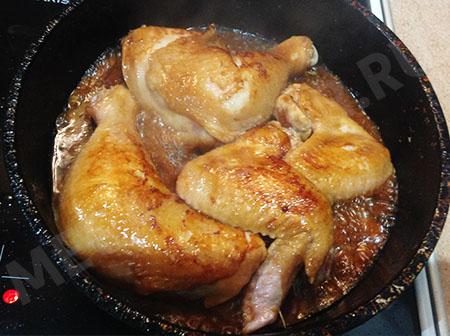Курица с соевым соусом в духовке