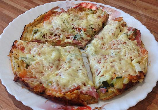 Пицца-минутка на сковороде
