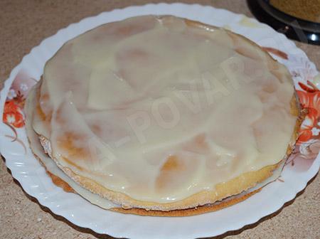 Торт медовик с заварным кремом